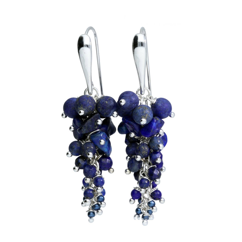 Oorbellen Wrap Wire Lapis Lazuli Sterling Zilver-2