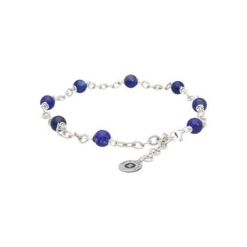 Enkelbandje Wrap Wire B6 – Lapis Lazuli – Sterling Zilver