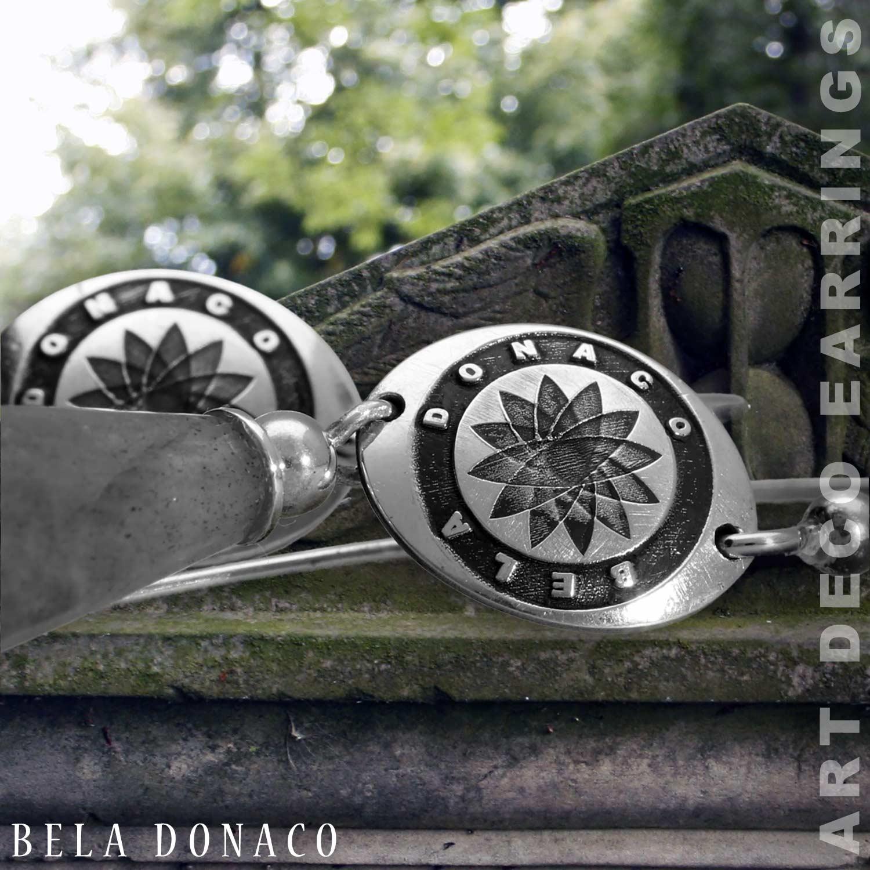 Oorbellen Art Deco Labradoriet Sterling Zilver-2