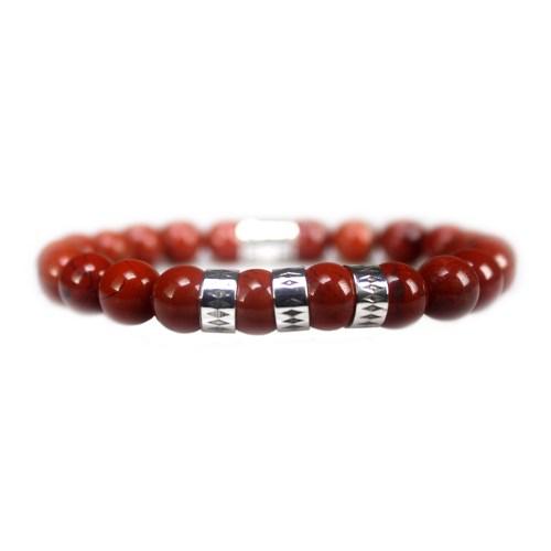 Armband Luxury B8 – Redstone – Geoxideerd Sterling Zilver