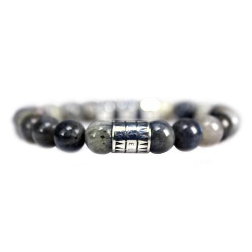 Armband Luxury B8 – Labradoriet – Geoxideerd Sterling Zilver
