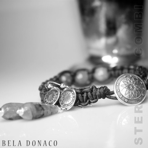 Oorbellen Art Deco – Labradoriet – Sterling Zilver