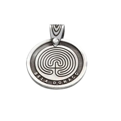 Hanger Bohemian W22 – Labyrint – Sterling Zilver