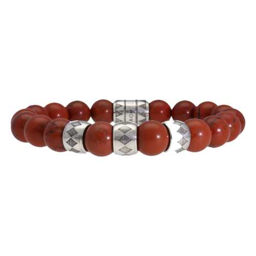Armband Luxury B10 – Redstone Jaspis – Geoxideerd Sterling Zilver