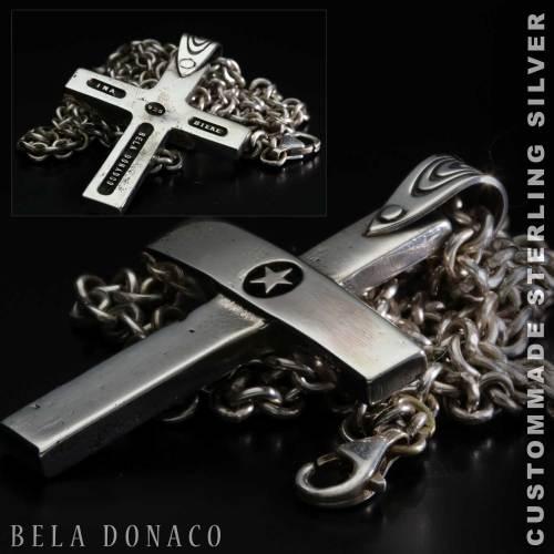 Hanger Sterling Zilveren Kruis – 4.5 x 3 cm inclusief ketting