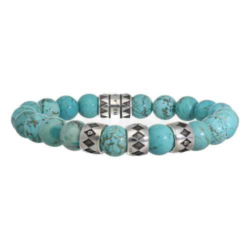 Armband Luxury B10 – Turquoise – Geoxideerd Sterling Zilver