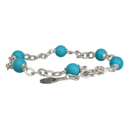 Armband Wrap Wire B6 Hubei Turquoise Sterling Zilver-3