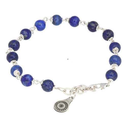 Armband Wrap Wire B6 – Lapis Lazuli – Sterling Zilver