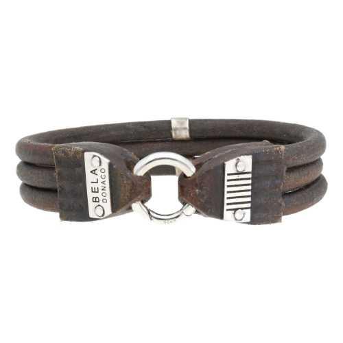 Armband Supreme W15 – Vintage bruin leder – Sterling Zilver