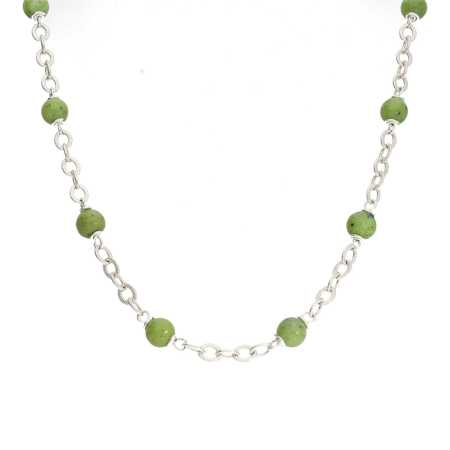 Ketting Wrap Wire B6 Canadese Jade Sterling Zilver-8