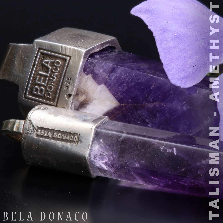 Talisman - Amethist - Sterling Zilver gesmeed - 14 gram-17