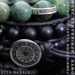 Armband Luxury B10 – mat Onyx – Sterling Zilver