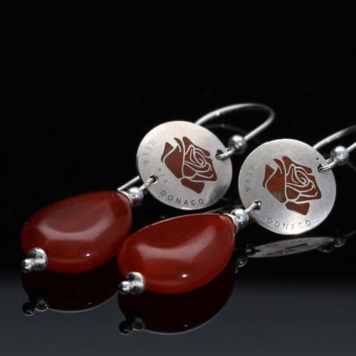 Oorbellen Limited Edition – Carneool – Sterling Zilver – Resin