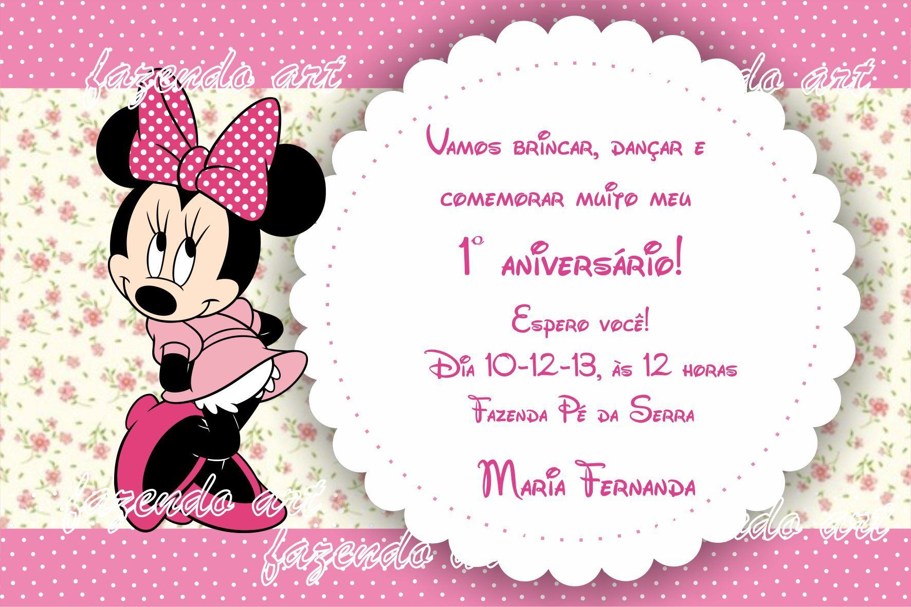 Baby Minnie Mouse Invitations