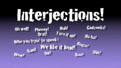 Interjection Dalam Bahasa Inggris