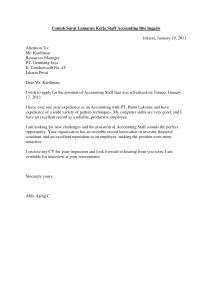 Contoh Surat Lamaran Kerja Bahasa Inggris untuk Fresh Graduate