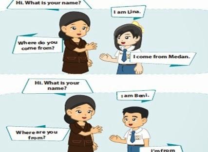 Contoh singkat perkenalkan diri dalam bahasa inggris di sekolah