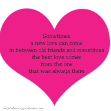 Kalimat Cinta Yang sangat Romantis di dalam Kehidupan