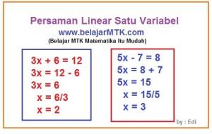 Persaman Linear Satu Variabel