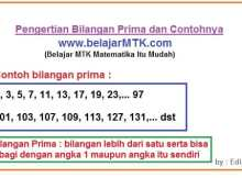 Pengertian Bilangan Prima dan Contohnya