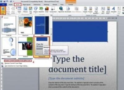 Membuat halaman cover pada word 2010