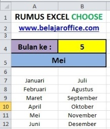 Rumus Excel Choose 2