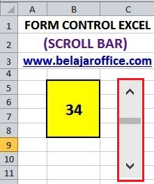 Scroll Bar Excel