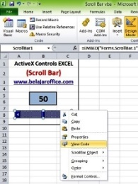 View Code Scroll Bar ActiveX Control
