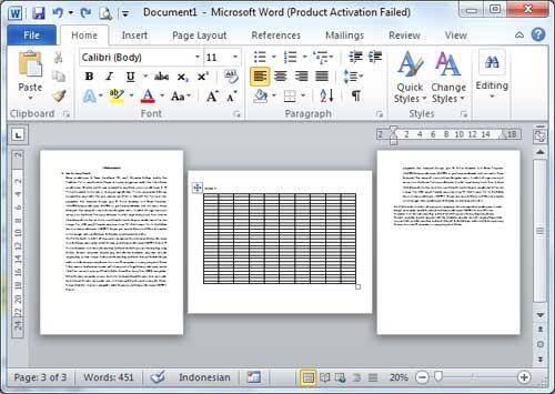 Cara Membuat Orientasi Berbeda Dalam Satu Dokumen Microsoft Word Belajar Komputer Tutorial Teknisi Komputer