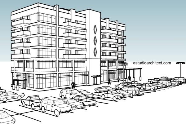 parkir gedung komersial kantor apartemen bertingkat