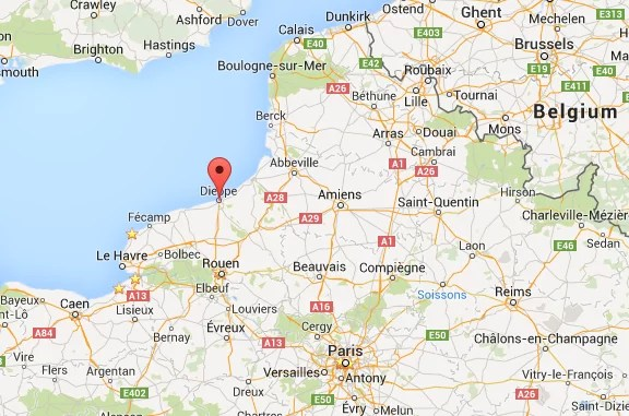 Dieppe, France map