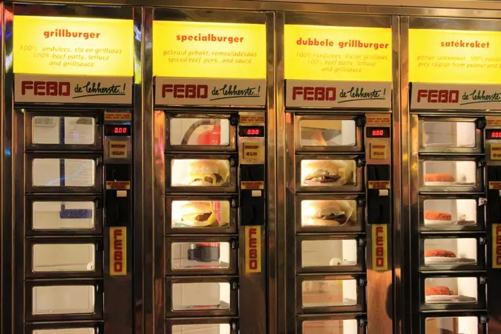 food vending machine, amsterdam