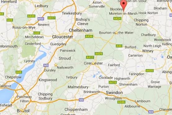 cotswolds map -best cotswold villages