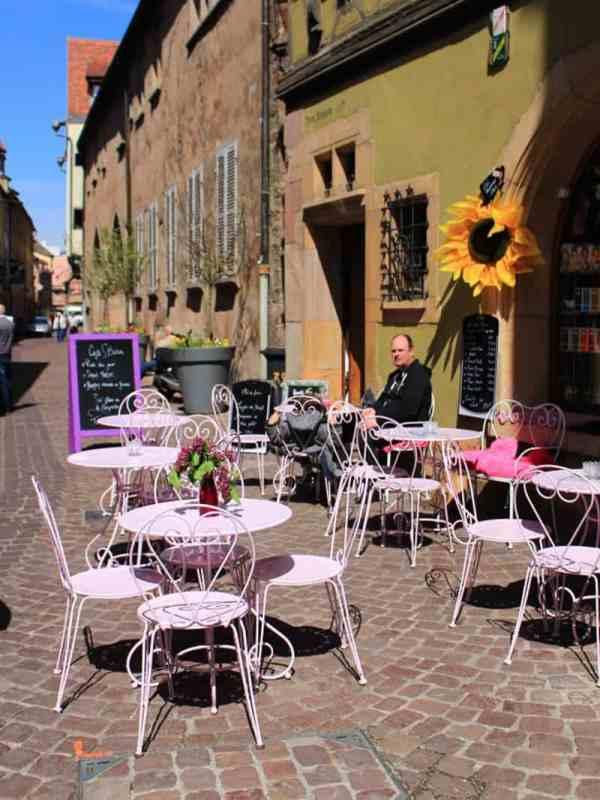 colmar france street alfresco seating