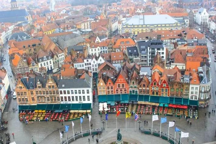 Bruges Belgium markt, bruges walking tour, brugge city tour