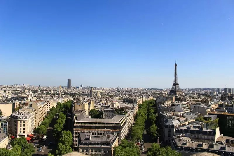 Eiffel tower from above, paris arrondissements map, best places to visit in paris