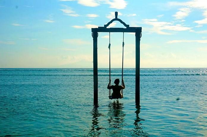 Swing Over the Sea, Gili Trawangan, Lombok