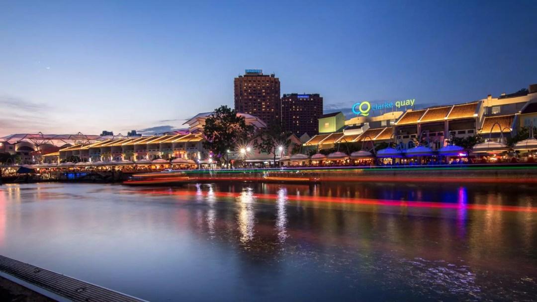 Clarke Quay Singapore night