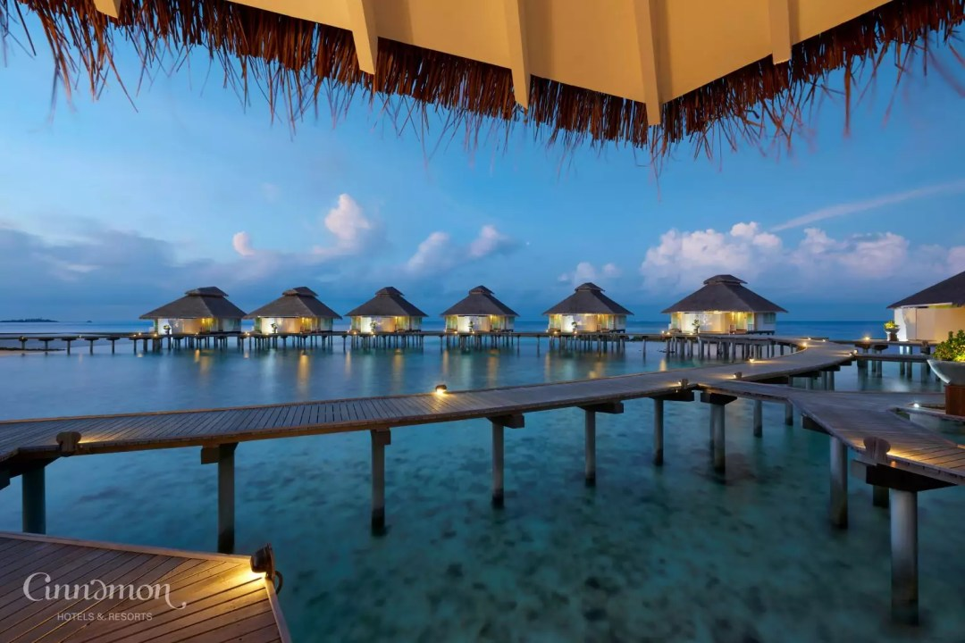 Ellaidhoo Maldives by Cinnamon-Over Water Villas at Twilight
