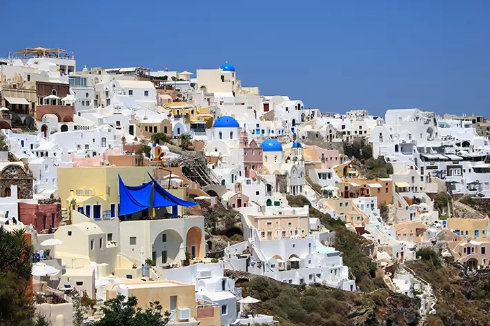 Perfect Greek Villa santorini greece white houses
