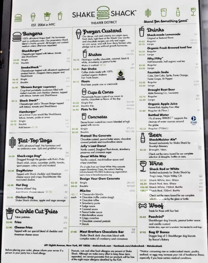 shake shack menu, nyc restaurants, new york city