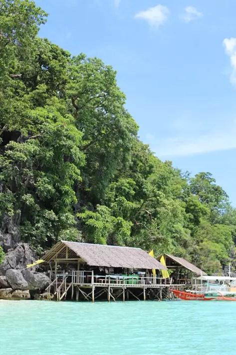 hut-by-the-sea-coron-island-hopping-tour, coron palawan tour package