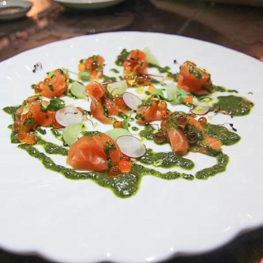 Hotel-Clover-Jalan-Sultan-Fukasen-Spinach-Salmon-Carpaccio