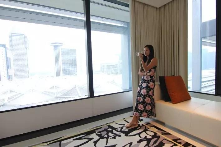 JW Marriott South Beach wine girl