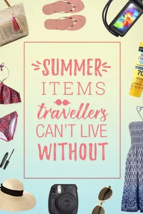 summer packing list items pinterest