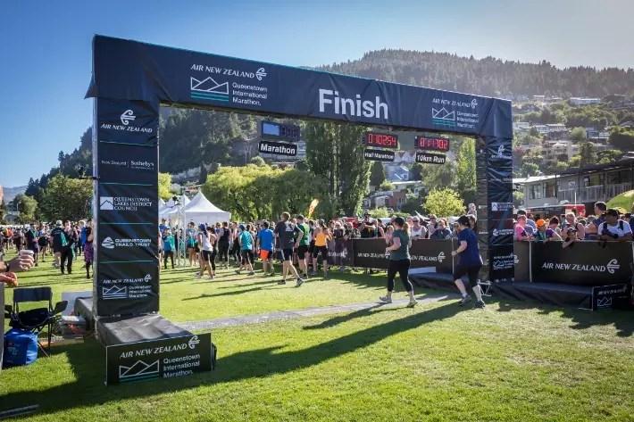 Air New Zealand Queenstown International Marathon finish line