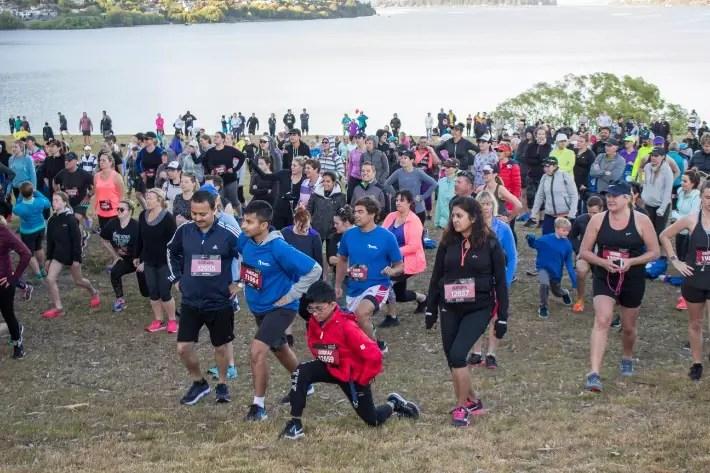 Air New Zealand Queenstown International Marathon warm up