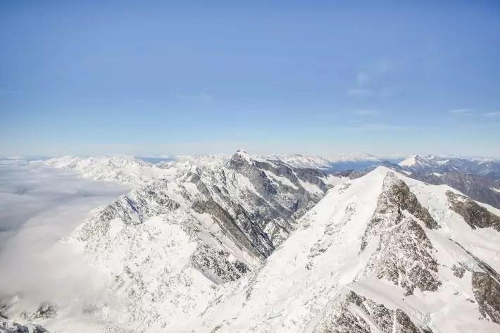 scenic helicopter flight snow mountain franz glacier fox glacier new zealand