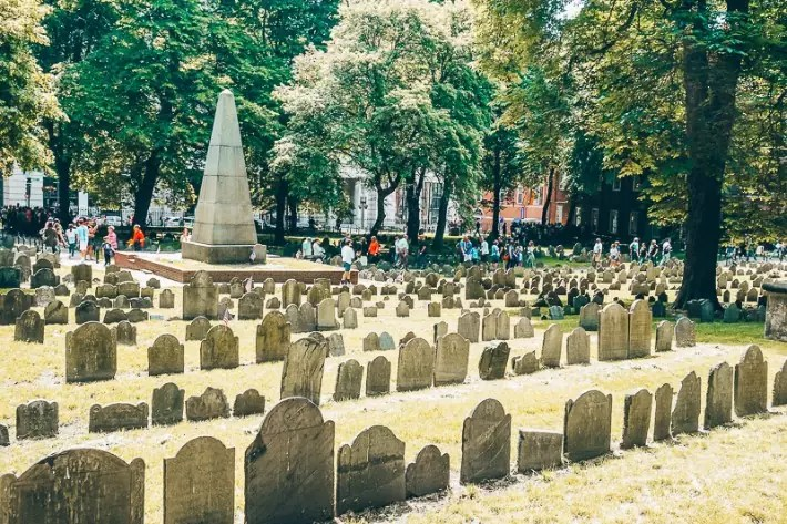 Granary Burying Ground where Benjamin Franklin's parents were buried, 2 Days in Boston, weekend in Boston itinerary