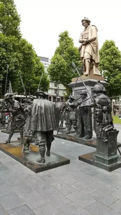 Rembrndt statue, Rembrandtplein, amsterdam